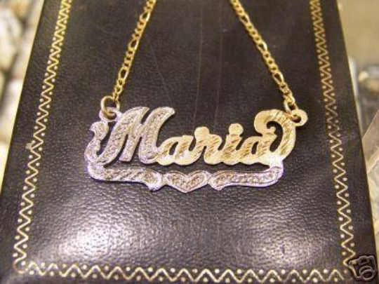 14k Gold Plate Personalized Any Name Single Plate Nameplate Necklace (comes with the Chain )5