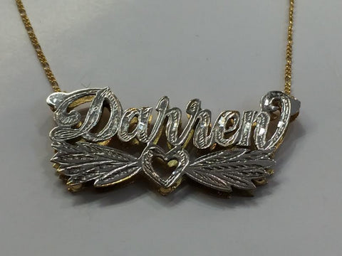 Double Plated Name Necklace Myfancyboutique