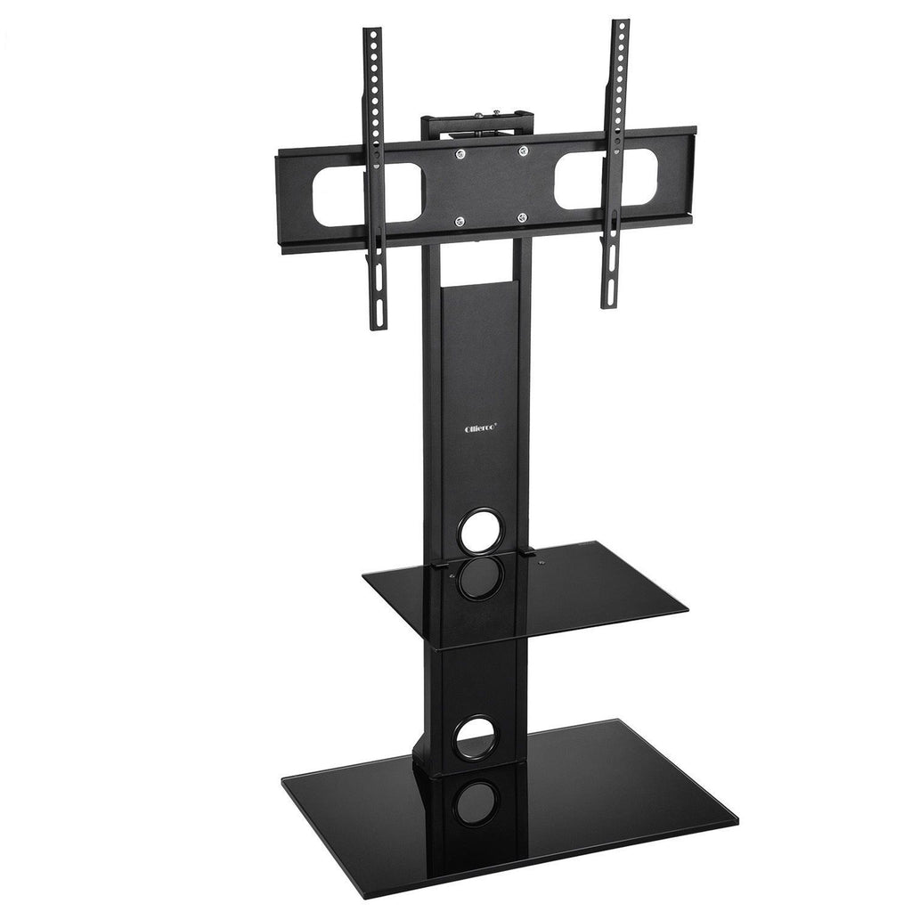 TV Cart Stand Floor Tabletop TV Stand Base W/ Mount And Shelf Fit For 26