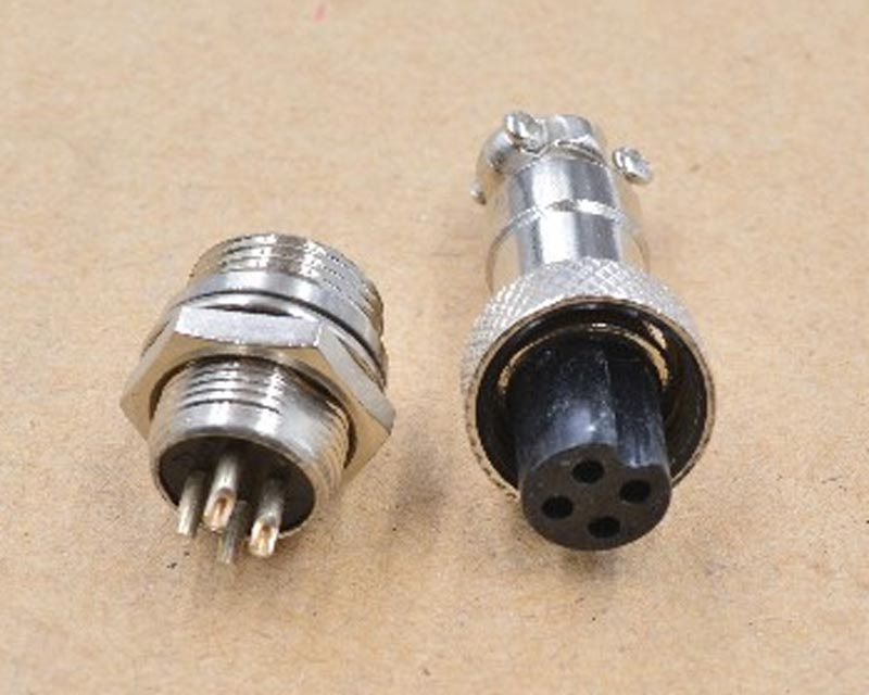 4 PIN Aviation Plug Connectors - RS765 (GX12)