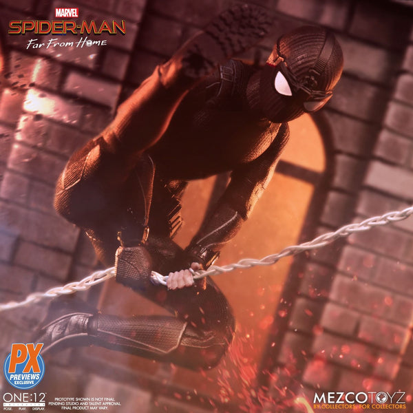 Mezco One:12 Collective Spider-Man Far From Home Stealth Suit PX Figure, Marvel- Have a Blast Toys & Games