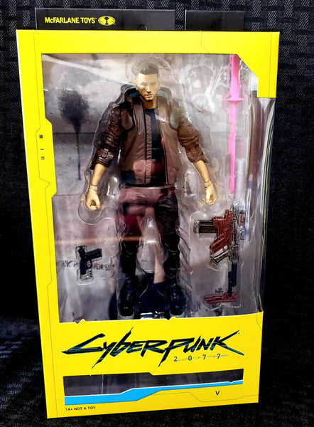 McFarlane Toys Cyberpunk 2077 Male V Action Figure, Popular Characters- Have a Blast Toys & Games