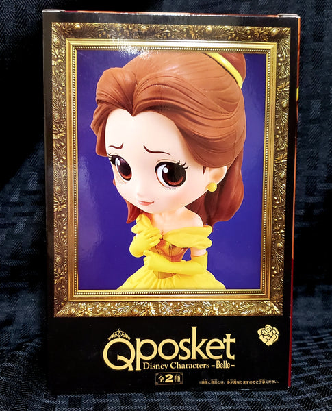 Disney Beauty & The Beast Q Posket Belle Classic Yellow Dress Figure