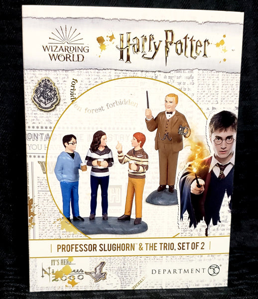 Department 56 Harry Potter Village Professor Slughorn & Trio Figurine Set