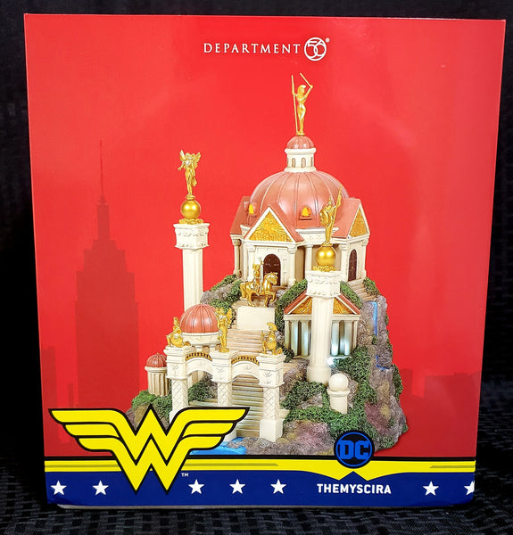Department 56 Hot Properties Village Themyscira DC Comics Building