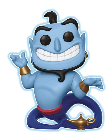 Funko Pop! Disney Genie with Lamp Specialty Glow in Dark Figure, Popular Characters- Have a Blast Toys & Games