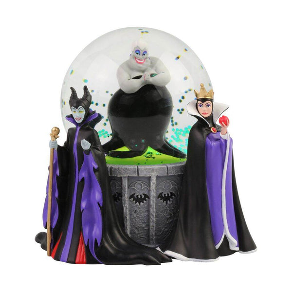 Department 56 Disney Villains Ursula, Maleficent and Evil Queen Lit Waterball