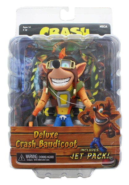 NECA Crash Bandicoot with Jet Pack 7-inch Deluxe Action Figure, Popular Characters- Have a Blast Toys & Games