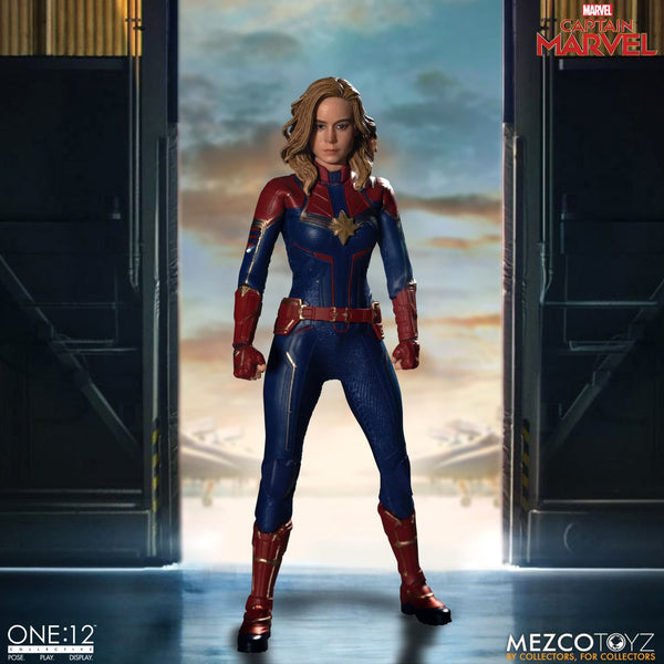Mezco One:12 Collective Captain Marvel Action Figure, Marvel- Have a Blast Toys & Games