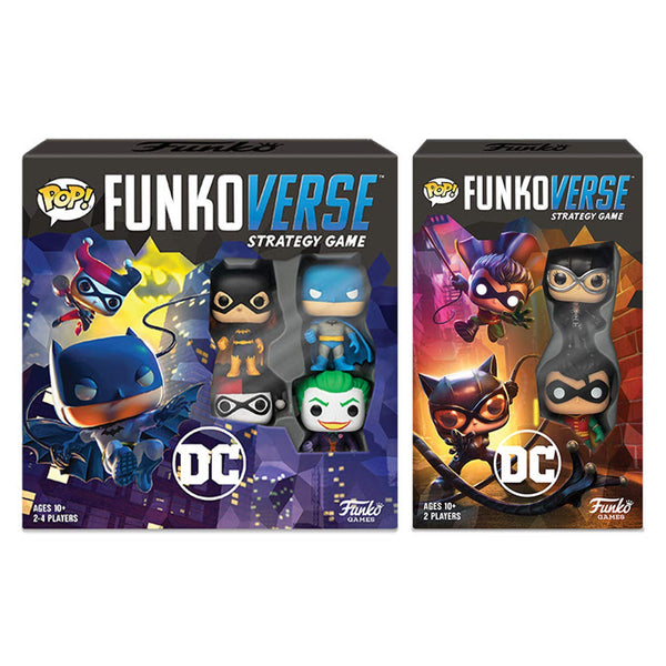 Funko Pop Funkoverse DC Comics Base 100 & Expandalone 101 Game Set of 2, Popular Characters- Have a Blast Toys & Games