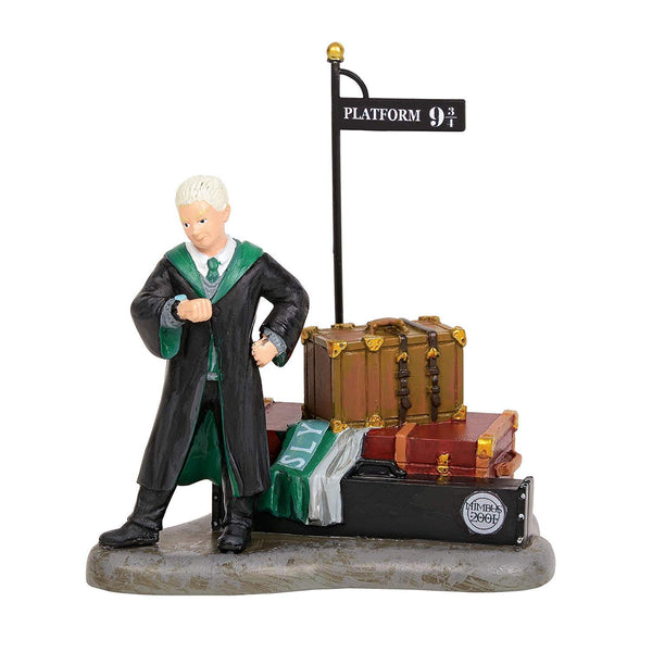 Department 56 Harry Potter Village Draco Waits at Platform 9 3/4 Figurine, Popular Characters- Have a Blast Toys & Games