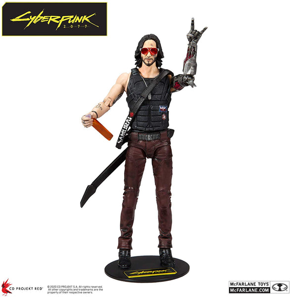 McFarlane Toys Cyberpunk 2077 Johnny Silverhand Action Figure, Popular Characters- Have a Blast Toys & Games