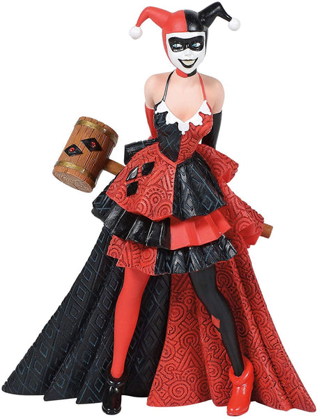 Enesco DC Comics Couture de Force Harley Quinn Figurine, Popular Characters- Have a Blast Toys & Games