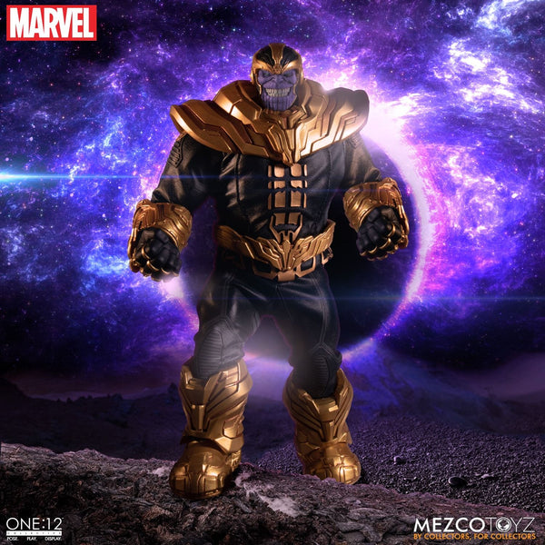 Mezco One:12 Collective Thanos Action Figure, Marvel- Have a Blast Toys & Games