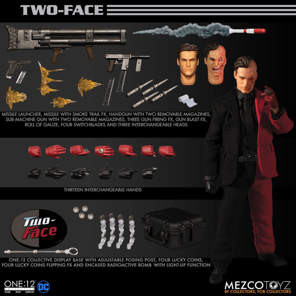 Mezco One:12 Collective Two-Face Action Figure, Marvel- Have a Blast Toys & Games