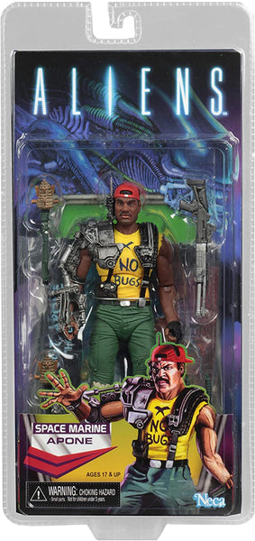 NECA Aliens Space Marine Apone Kenner Tribute 7-inch Scale Action Figure