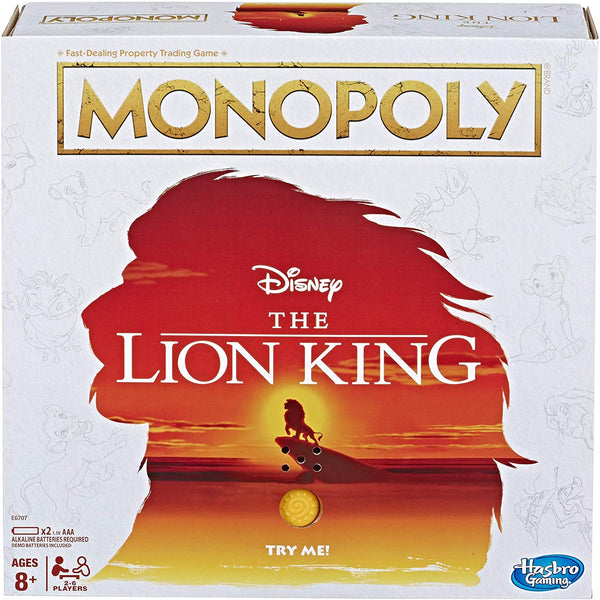 Monopoly Disney The Lion King Edition Board Game, Popular Characters- Have a Blast Toys & Games