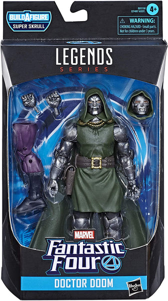 Marvel Legends Fantastic Four Dr Doom 6-Inch Figure Super Skrull BAF