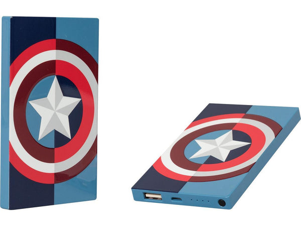 4000mAh Marvel Captain America Power Bank, DC Comics- Have a Blast Toys & Games