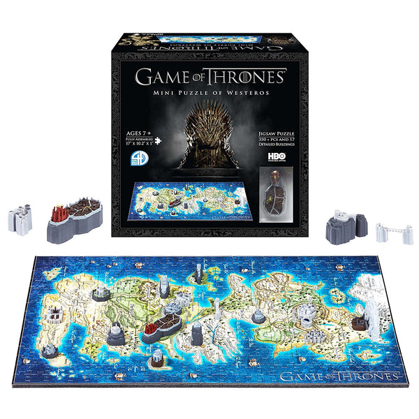 4D Cityscape Game of Thrones: Westeros Mini Puzzle (350+ pieces), Popular Characters- Have a Blast Toys & Games