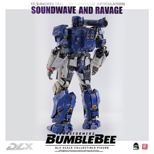 ThreeZero Transformers Bumblebee Soundwave & Ravage Dlx Diecast Figure