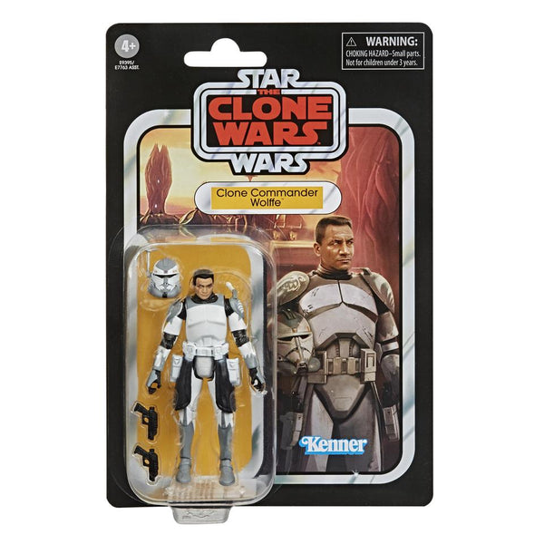 Star Wars Vintage Collection Clone Wars Commander Wolffe 3.75-Inch Figure