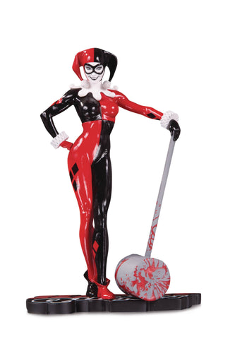 DC Collectibles Harley Quinn Red White & Black Adam Hughes Statue, DC Comics- Have a Blast Toys & Games