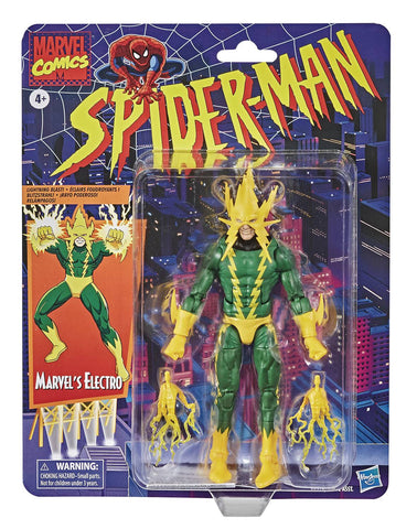 Marvel Legends Spider-Man Electro Retro 6-Inch Action Figure