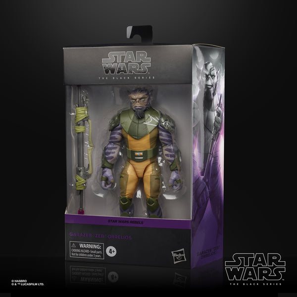 Star Wars The Black Series Zeb Orrelios Rebels 6-Inch Action Figure