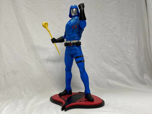 Gi Joe Cobra Commander PCS Collectibles 1:8 Scale PVC Statue