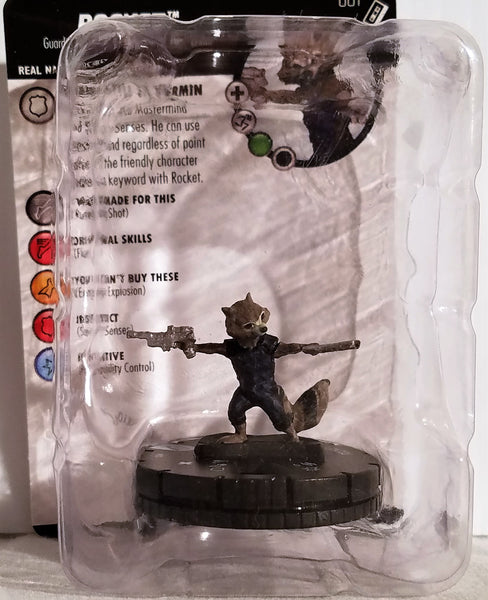 Rocket Guardians of the Galaxy Vol. 2 Marvel HeroClix Figure #001, Marvel- Have a Blast Toys & Games