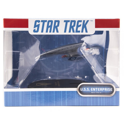 QMx Star Trek: TNG Enterprise NCC-1701 D Mini Masters Replica, Popular Characters- Have a Blast Toys & Games