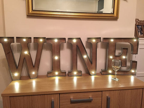 freestanding wine wooden rustic 16 led light up letters letter lights numbers marquee letters wall mounted wedding letters