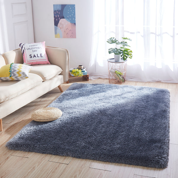 8' x 10' Grey Thick Dense Pile Super Soft Living Room Bedroom Shaggy Shag Area Rug