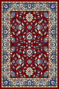 Burgundy Floral Traditional Oriental Area Rug