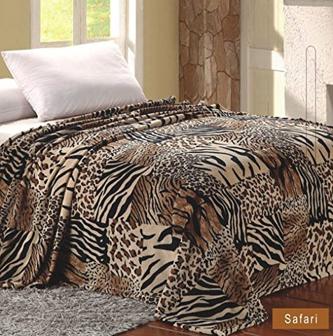 Home Must Haves MicroPlush Printed Blanket Safari (King) …