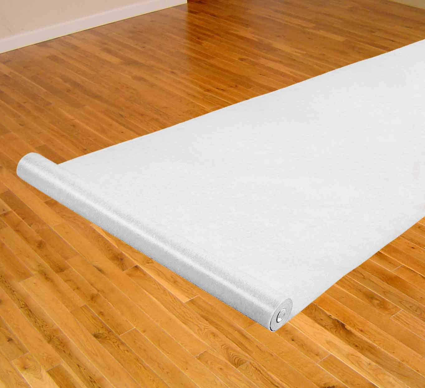"White Thick Carpet Roll Runner For Aisle Weddings, New Year's Eve, Hollywood Party, and Other Events, Thicker for Long Lasting 3'6"" x 100' Feet"