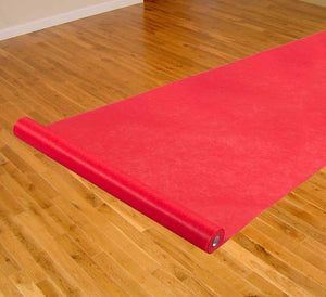 "Red Thick Carpet Roll Runner For Aisle Weddings, New Year's Eve, Hollywood Party, and Other Events, Thicker for Long Lasting 3'6"" x 100' Feet"