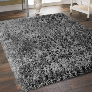 8' x 10' Grey Super Soft Thick Plush Pile Cozy Modern Shaggy Shag Microfiber Area Rug