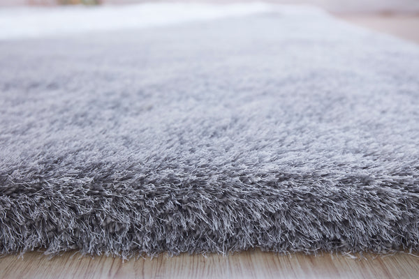5' x 7' Silver Thick Dense Pile Super Soft Living Room Bedroom Shaggy Shag Area Rug