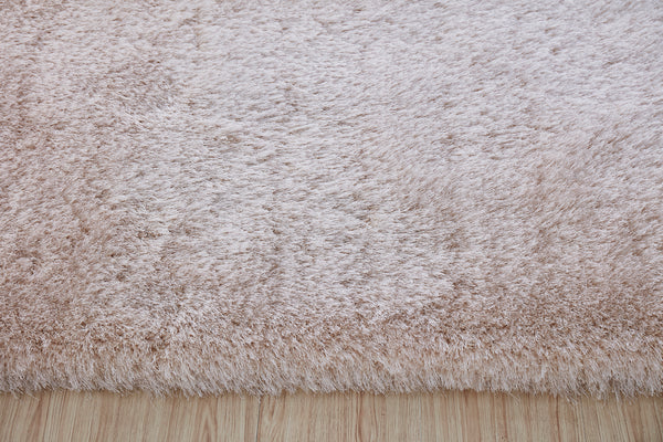 5' x 7' Beige Thick Dense Pile Super Soft Living Room Bedroom Shaggy Shag Area Rug