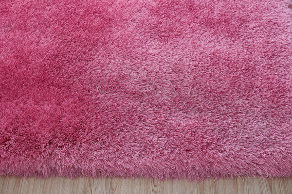 8' x 10' Pink Thick Dense Pile Super Soft Living Room Bedroom Shaggy Shag Area Rug
