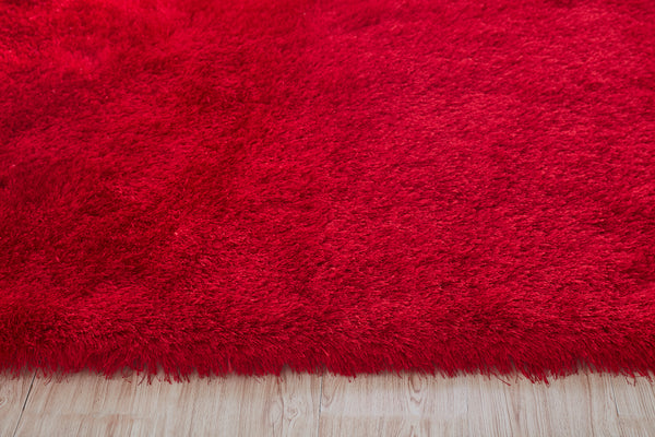 5' x 7' Red Thick Dense Pile Super Soft Living Room Bedroom Shaggy Shag Area Rug