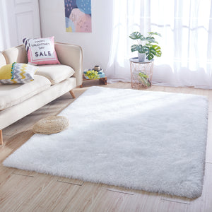 8' x 10' White Thick Dense Pile Super Soft Living Room Bedroom Shaggy Shag Area Rug