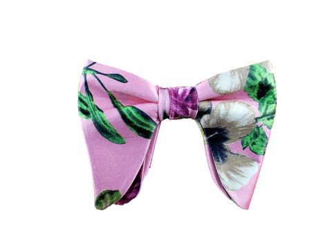 Pink floral big butterfly bow tie summer 2019 collection