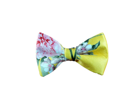 Yellow floral bowtie 2019 summer collection
