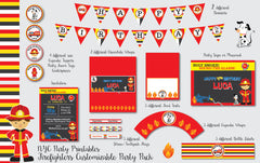Firefighter Birthday Party Collection