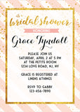 Bridal Shower Party Champagne and Blush Invitation - NYC PARTY PRINTABLES