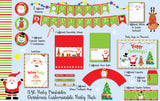 Christmas Party Complete Pack, Santa, Rudolph, Frosty the Snowman - NYC PARTY PRINTABLES