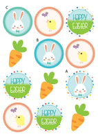 12 Piece Easter Party Egg Hunt Personalized Pack Printable with Invitation and Photo Booth Props - NYC PARTY PRINTABLES